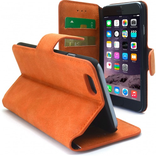Smart Cover iPhone 6 Plus Peau de pêche Mandarine