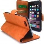 Vue complémentaire de Smart Cover iPhone 6 Plus Peau de pêche Mandarine