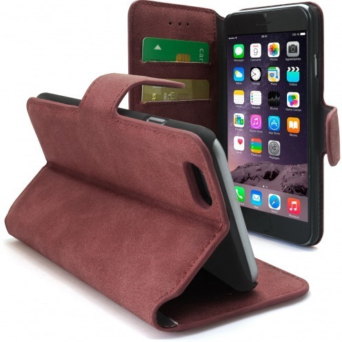 Smart Cover iPhone 6 Plus Peau de pêche Litchi