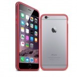 Visuel unique de Coque Bumper iPhone 6 HQ Rouge / Transparent