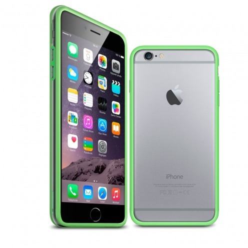 Coque Bumper iPhone 6 / 6s HQ Vert / Transparent