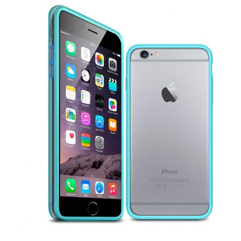 Coque Bumper iPhone 6 / 6s HQ Bleu / Transparent
