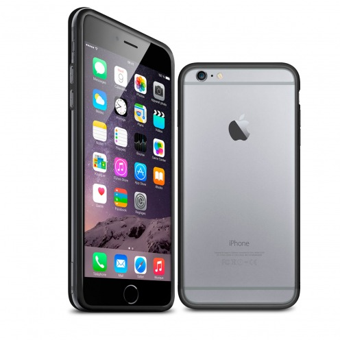Coque Bumper iPhone 6 Plus HQ Noir / Transparent