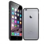 Visuel unique de Coque Bumper iPhone 6 Plus HQ Noir / Transparent