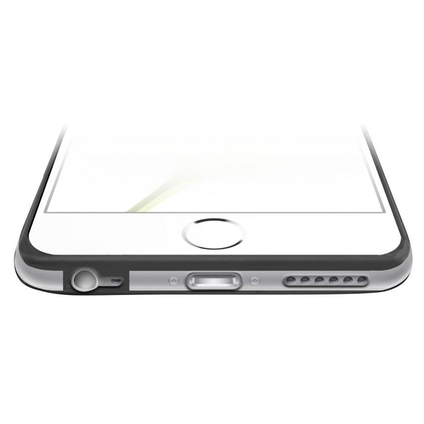 Vue complémentaire de Coque Bumper iPhone 6 Plus HQ Noir / Transparent