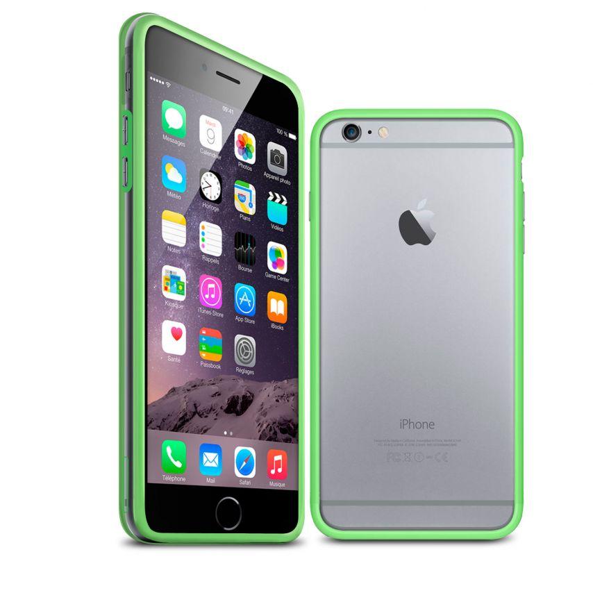 Visuel unique de Coque Bumper iPhone 6 Plus HQ Vert / Transparent
