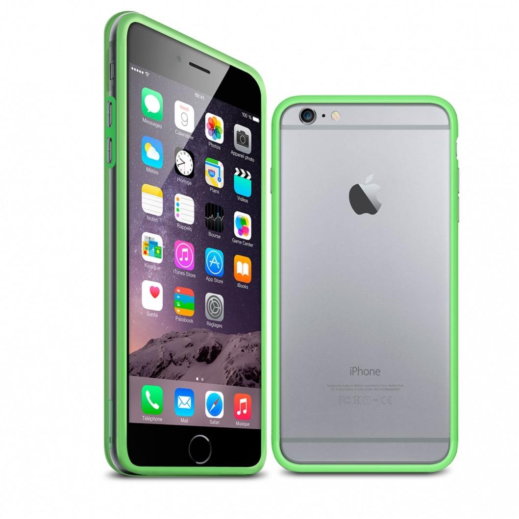 coque bumper iphone 6 plus hq vert transparent