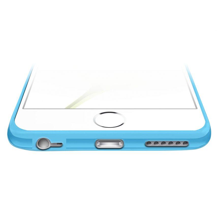 Vue complémentaire de Coque Bumper iPhone 6 Plus HQ Bleue