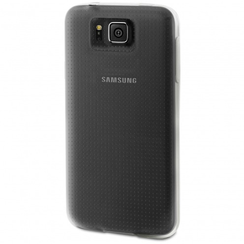 Zoom sur Coque Samsung Galaxy Alpha Minigel Skin Muvit Transparent