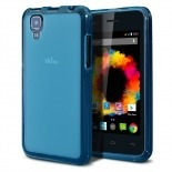 Visuel unique de Coque Wiko Sunset Frozen Ice Extra Fine Bleue