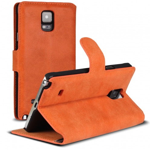 Smart Cover Galaxy Note 4 Peau de pêche Mandarine