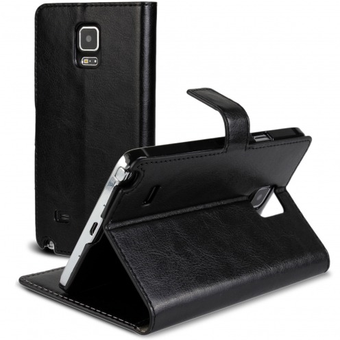 Smart Cover Galaxy Note 4 Cuirette Marbrée Noir