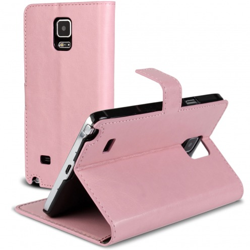 Smart Cover Galaxy Note 4 Cuirette Marbrée Rose
