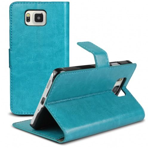 Smart Cover Galaxy Alpha Cuirette Marbrée Bleu