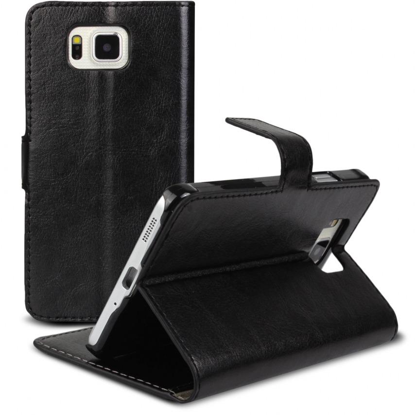 Visuel supplémentaire de Smart Cover Galaxy Alpha Cuirette Marbrée Noir