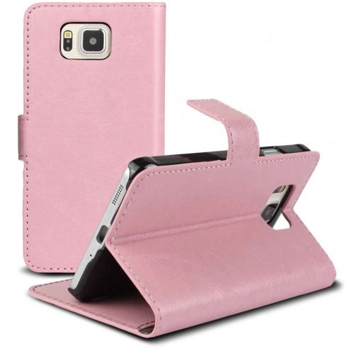 Smart Cover Galaxy Alpha Cuirette Marbrée Rose