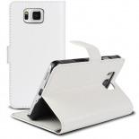 Visuel supplémentaire de Smart Cover Galaxy Alpha Cuirette Marbrée Blanche