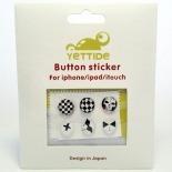 Zoom sur Home Sticker Autocollant bouton Home iPhone 3GS / 4 / 4S Design Black