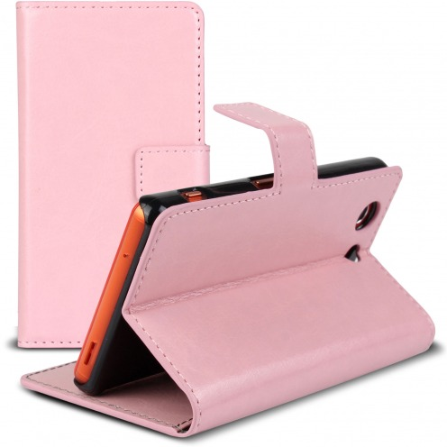 Smart Cover Xperia Z3 Compact Cuirette Marbrée Rose