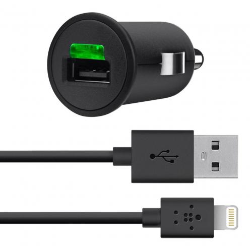 Chargeur Voiture Belkin® 10 Watt 2.1A - Câble Lightning 1.2M MFI
