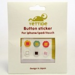 Zoom sur Home Sticker Autocollant bouton Home iPhone 3GS / 4 / 4S Design Carré
