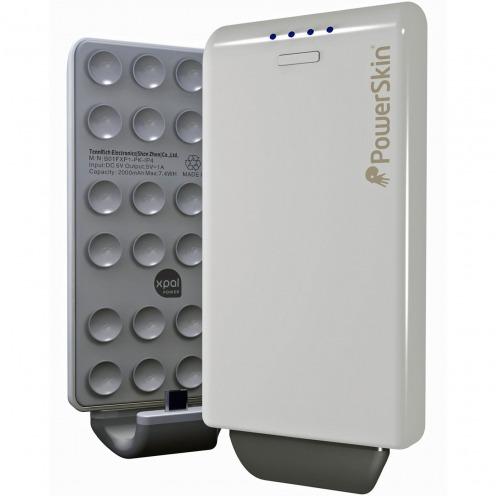 Photo réelle de Chargeur PowerSkin PoP'n Hybride Micro USB Blanc