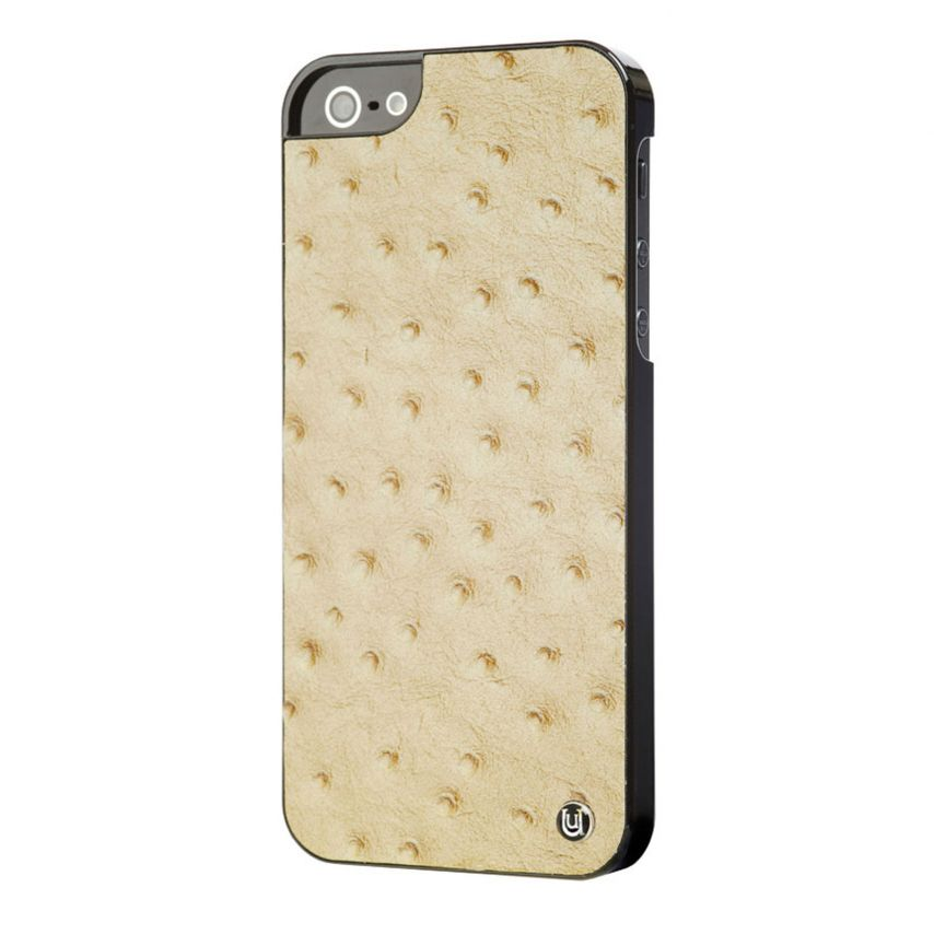 Visuel supplémentaire de Coque iPhone 5 / 5S Uunique London Cuir Veritable Ostrich Tan