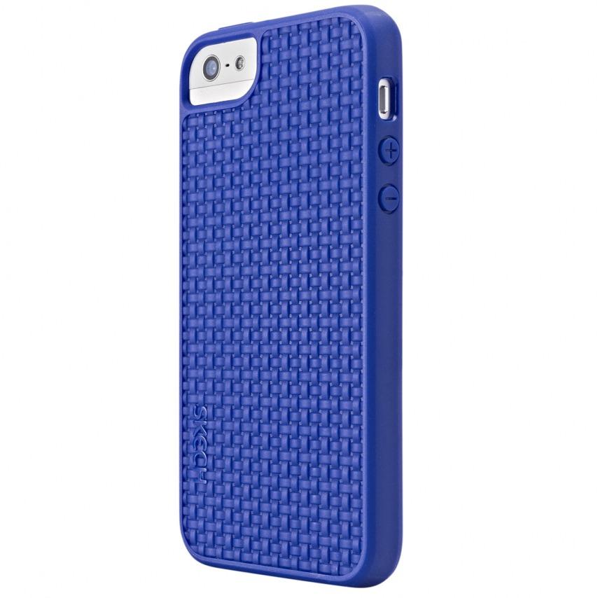 Visuel supplémentaire de Coque Skech GripShock TPU Bleu pour iPhone 5/5S