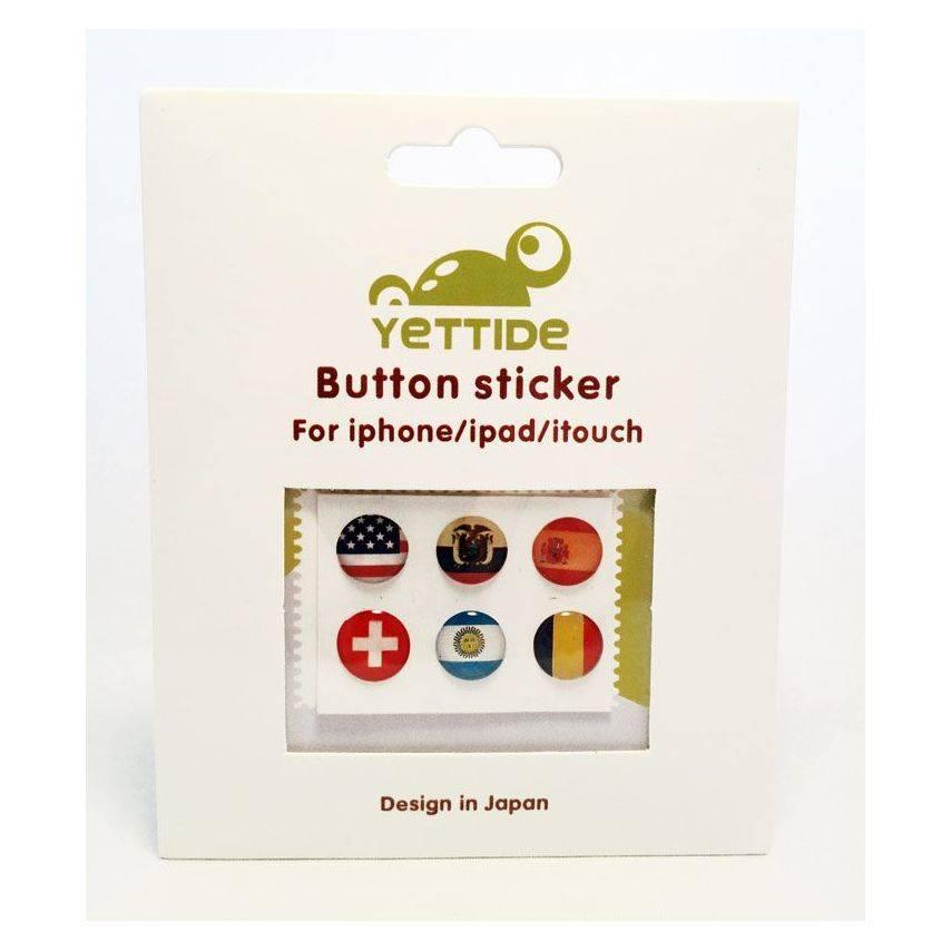 Zoom sur Home Sticker Autocollant bouton Home iPhone 3GS / 4 / 4S Design Drapeau