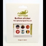 Zoom sur Home Sticker Autocollant bouton Home iPhone 3GS / 4 / 4S Design Drapeau