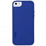 Vue complémentaire de Coque Skech GripShock TPU Bleu pour iPhone 5/5S