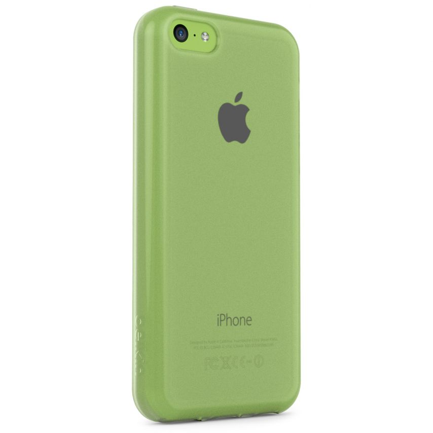 Photo réelle de Coque iPhone 5C Belkin Grip Sheer Transparent