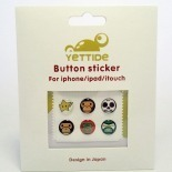 Zoom sur Home Sticker Autocollant bouton Home iPhone 3GS / 4 / 4S Design Monkey