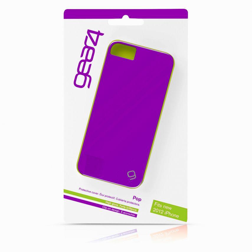 Vue complémentaire de Coque iPhone 5 / 5S Gear4 Pop Colors Violet