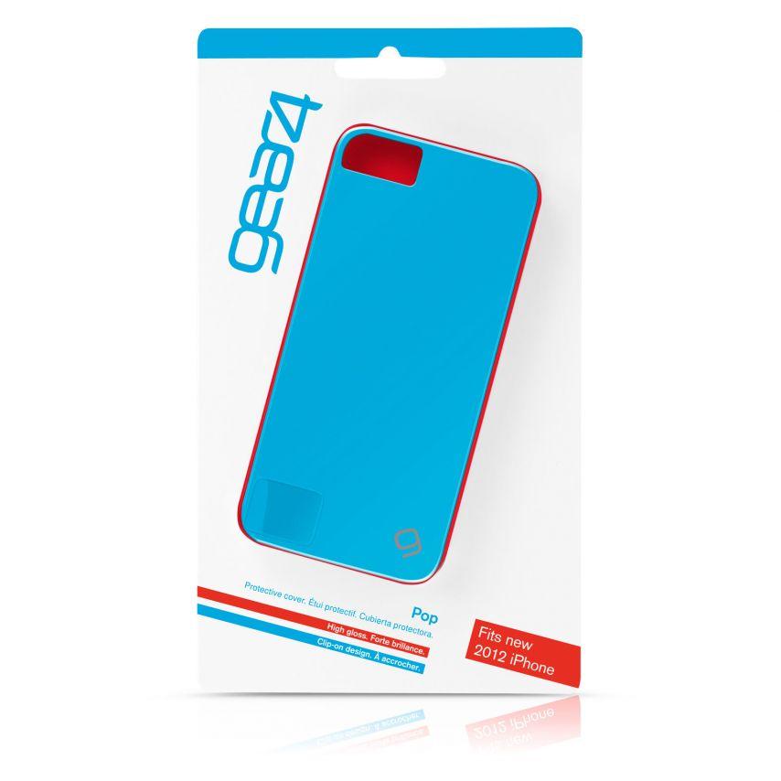 Vue complémentaire de Coque iPhone 5 / 5S Gear4 Pop Colors Bleu