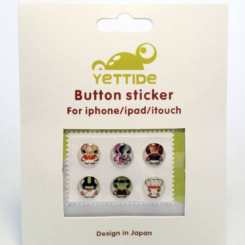 Zoom sur Home Sticker Autocollant bouton Home iPhone 3GS / 4 / 4S Design Manga