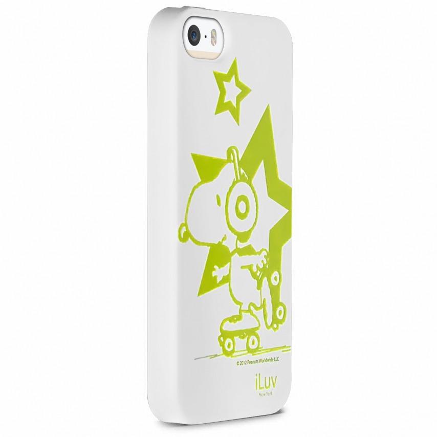 Vue portée de Coque iPhone 5 / 5S iLuv Collection Snoopy™ TPU Blanc