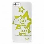 Vue détaillée de Coque iPhone 5 / 5S iLuv Collection Snoopy™ TPU Blanc