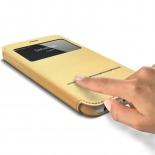 Visuel unique de Coque Folio Smart Touch View Cuir Eco Or pour iPhone 6 Plus
