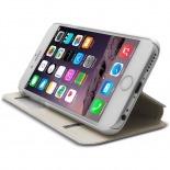 Zoom sur Coque Folio Smart Touch View Cuir Eco Blanc pour iPhone 6