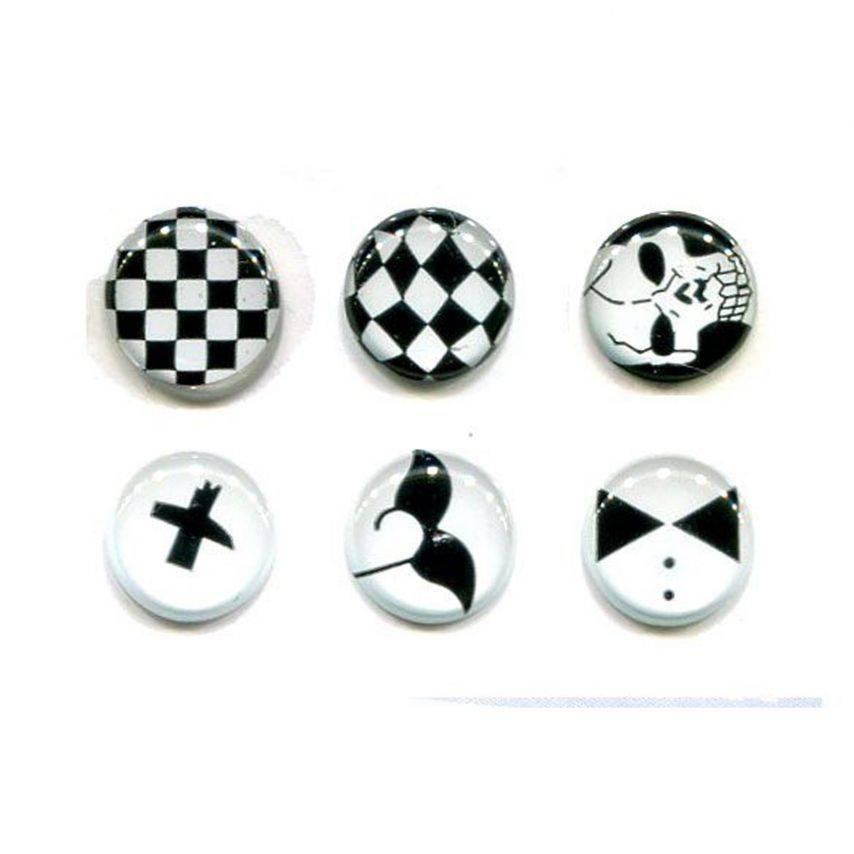 Visuel unique de Home Sticker Autocollant bouton Home iPhone 3GS / 4 / 4S Design Black