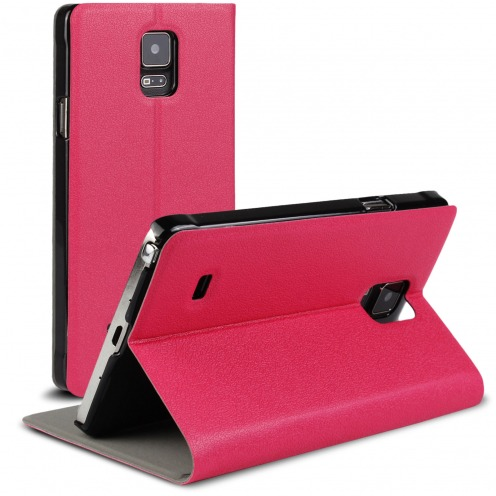 Etui Galaxy Note 4 Slim Folio Smart Magnet Fuchsia