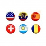 Visuel unique de Home Sticker Autocollant bouton Home iPhone 3GS / 4 / 4S Design Drapeau