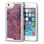 Visuel unique de Coque Crystal Glitter Liquid Diamonds Rose iPhone 5/5S