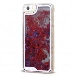 Visuel supplémentaire de Coque Crystal Glitter Liquid Diamonds Rouge iPhone 5/5S