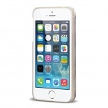 Vue complémentaire de Coque Crystal Glitter Liquid Diamonds Rouge iPhone 5/5S