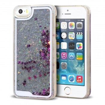 coque crystal glitter liquid diamonds argent iphone 5 5s se. Black Bedroom Furniture Sets. Home Design Ideas