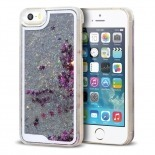 Visuel unique de Coque Crystal Glitter Liquid Diamonds Argent iPhone 5/5S