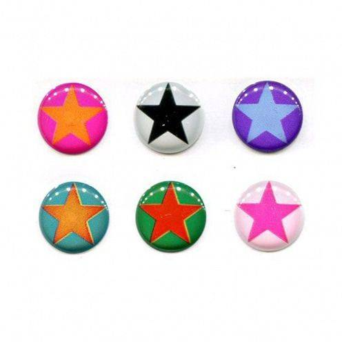 Zoom sur Home Sticker Autocollant bouton Home iPhone 3GS / 4 / 4S Design Stars