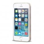 Vue complémentaire de Coque Crystal Glitter Liquid Diamonds Argent iPhone 5/5S